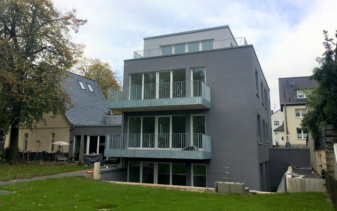 Fertigstellung Mehrfamilienhaus mit Denkmalsanierung in Bonn-Beuel
